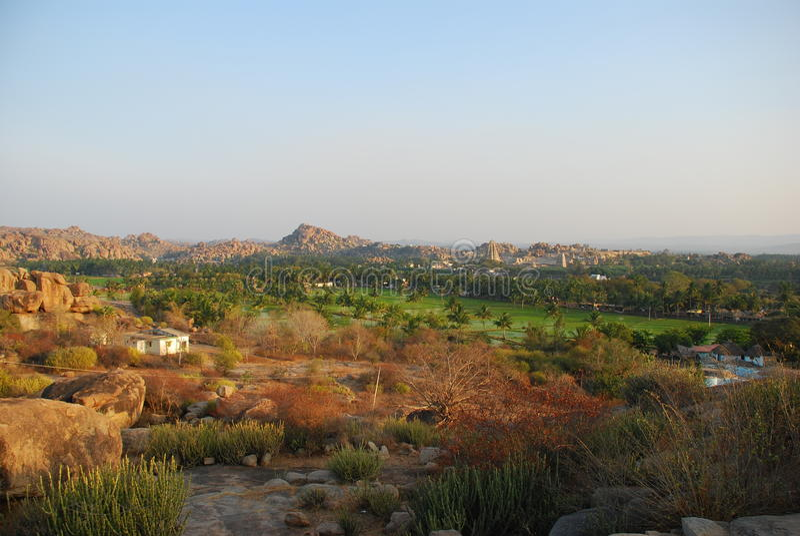 Indian Landscape, Hampi, Karnataka royalty free stock photography
