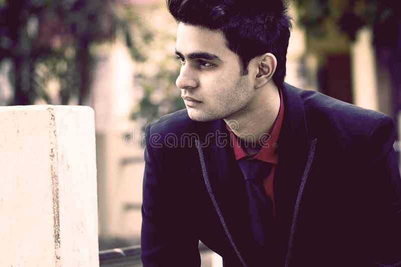 Indian Male Model in Business Clothes royalty free stock photography