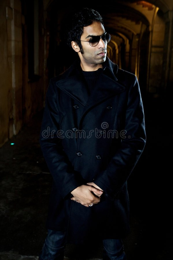 Indian male in the street stock image