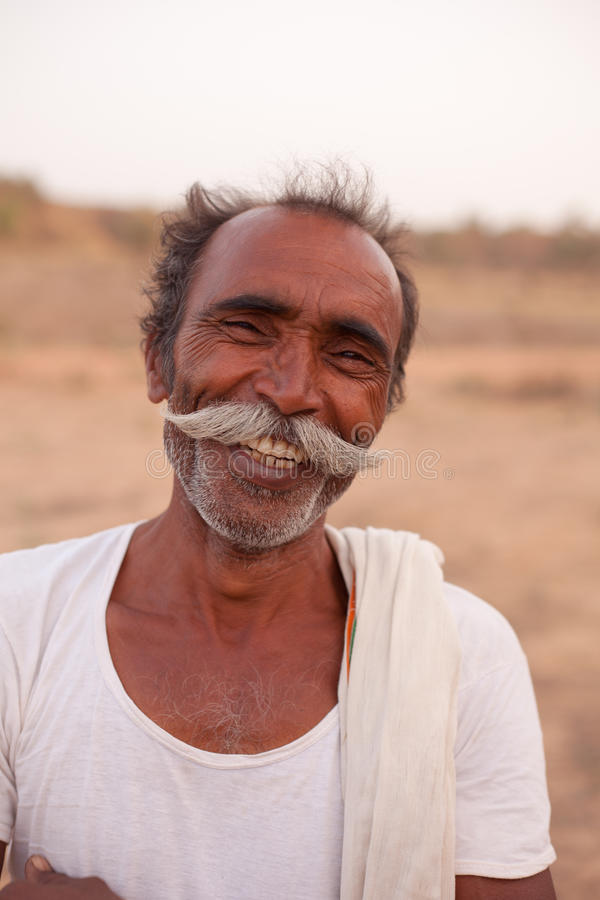 Indian Man With Handlebar Moustache Editorial Photography