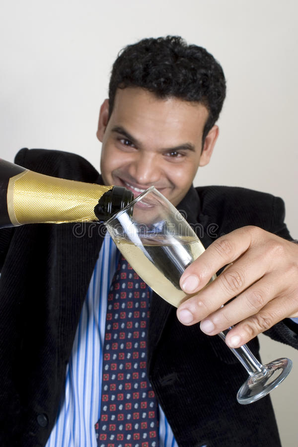 Indian Man At Party Royalty Free Stock Photography