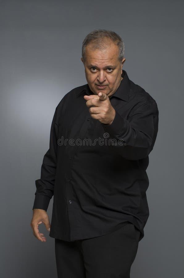 Indian man speaking. Indian man expressing his views stock photo