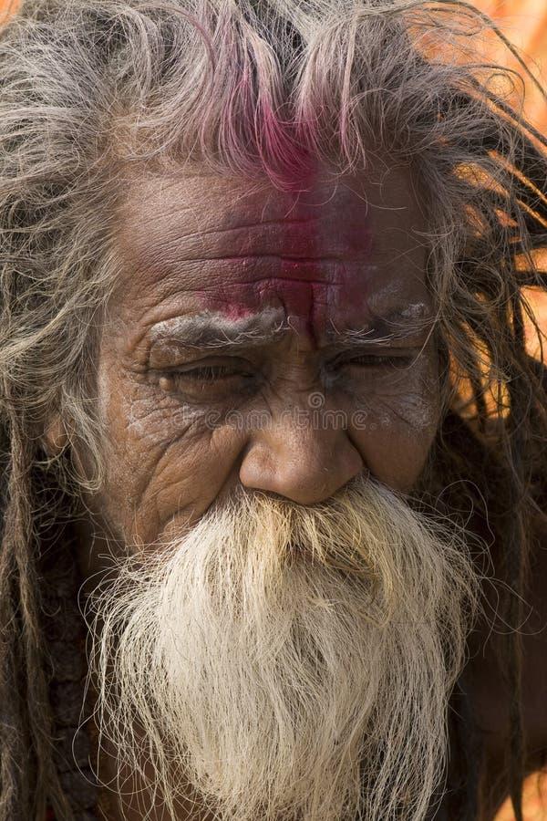 Indian man. Varanasi - India - indian face close-up royalty free stock photos