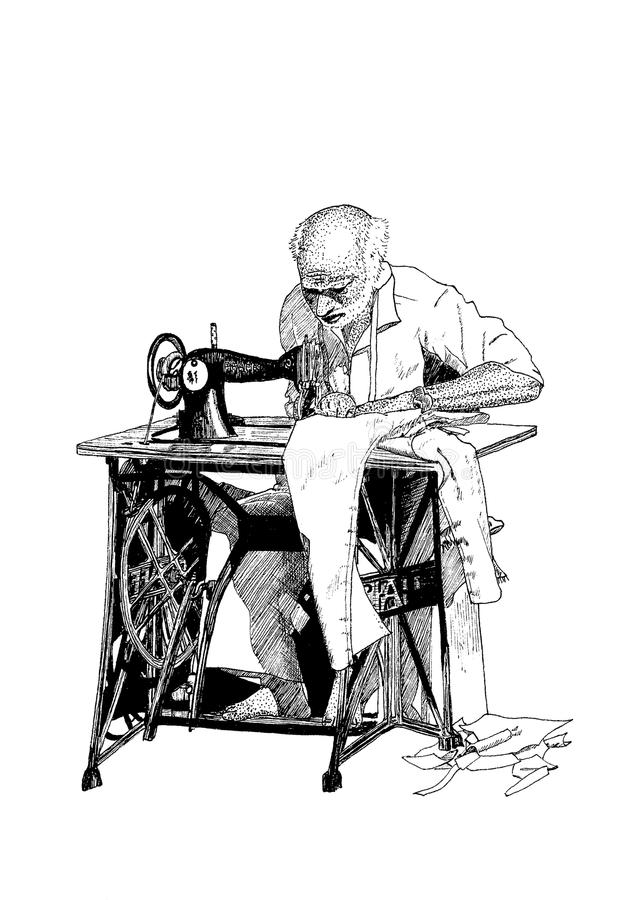 Indian Man At Work 1 Stock Illustration Image Of Asian