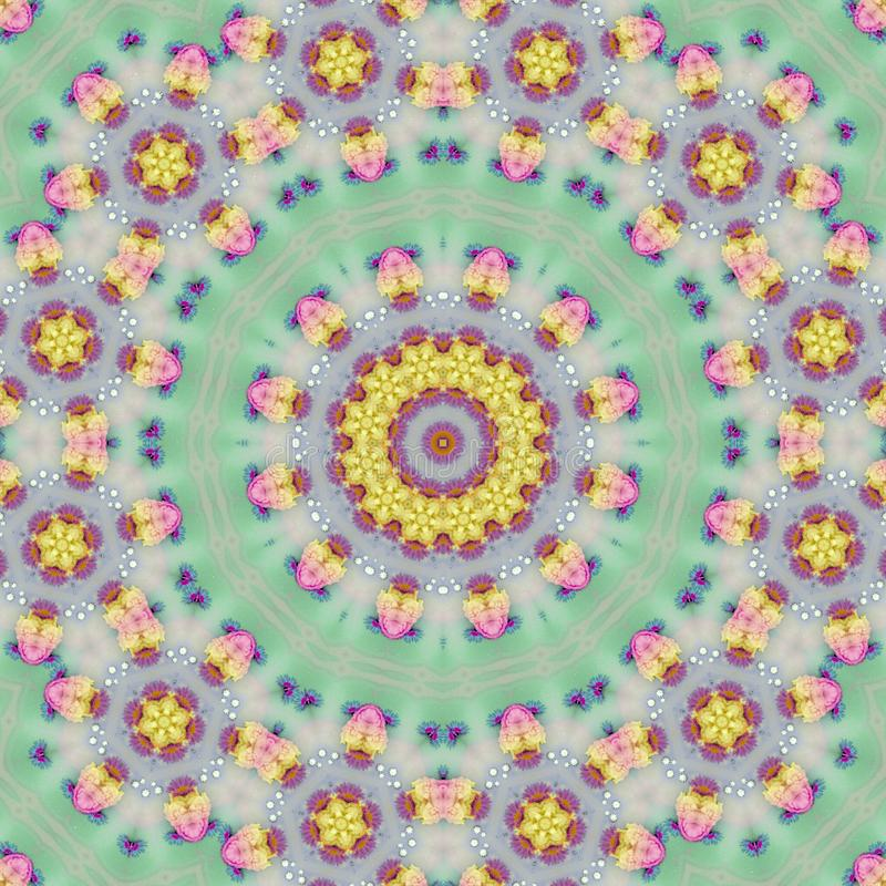 Indian mandala in pastel colors for meditation and yoga vector illustration