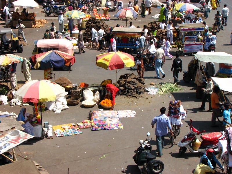 Indian Marketplace Stock Photography