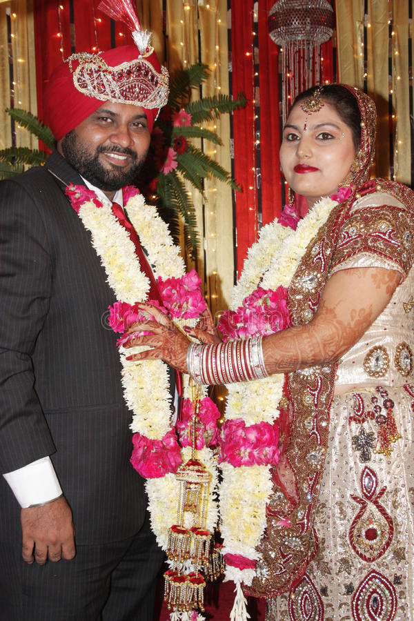 Indian Marriage ceremony. Marriage ceremony of an indian punjabi sikh couple stock images