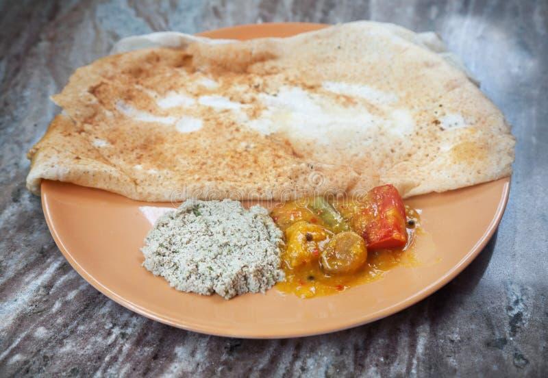 Download Indian masala dosa stock photo. Image of masaladosa, asian - 24439840
