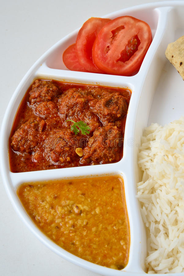Download Indian meal stock photo. Image of cuisine, chicken, josh - 32373924
