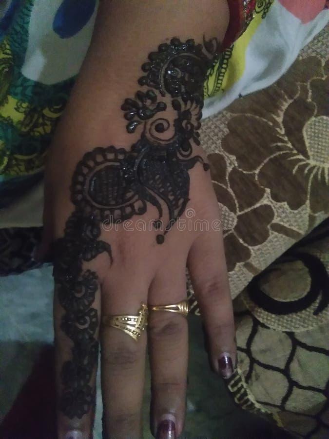 Indian mehndi design arabic design beautiful black mehndi royalty free stock images