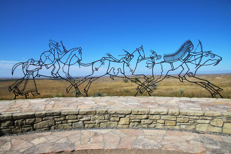 Indian Memorial at Little Bighorn Battlefield National Monument, royalty free stock photography