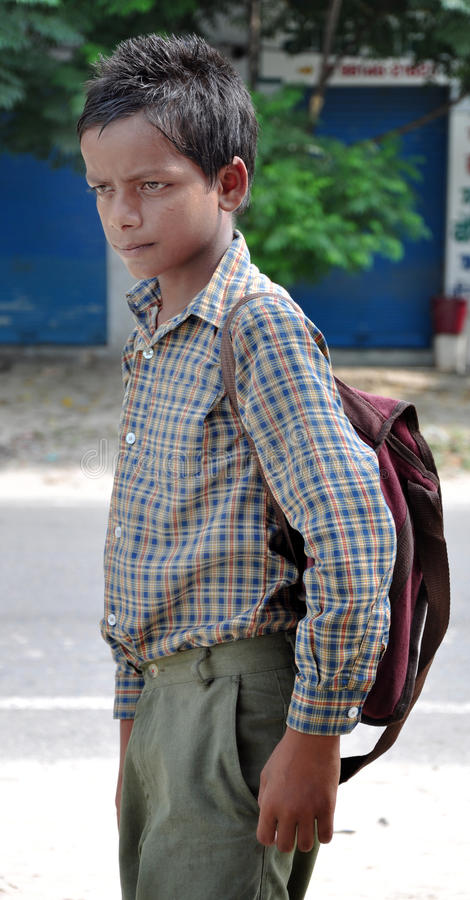 Indian middle school boy stock images