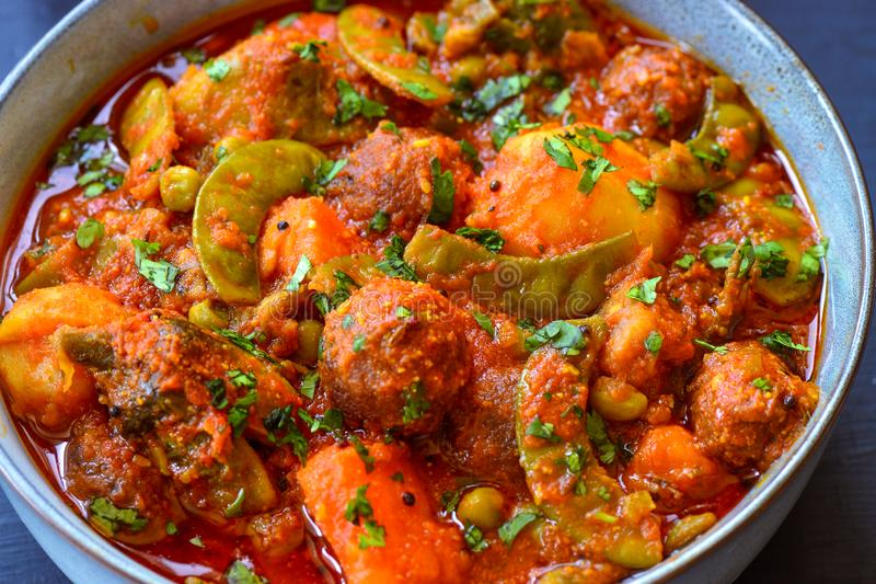 Indian mixed vegetable curry -Undhiyu royalty free stock photos