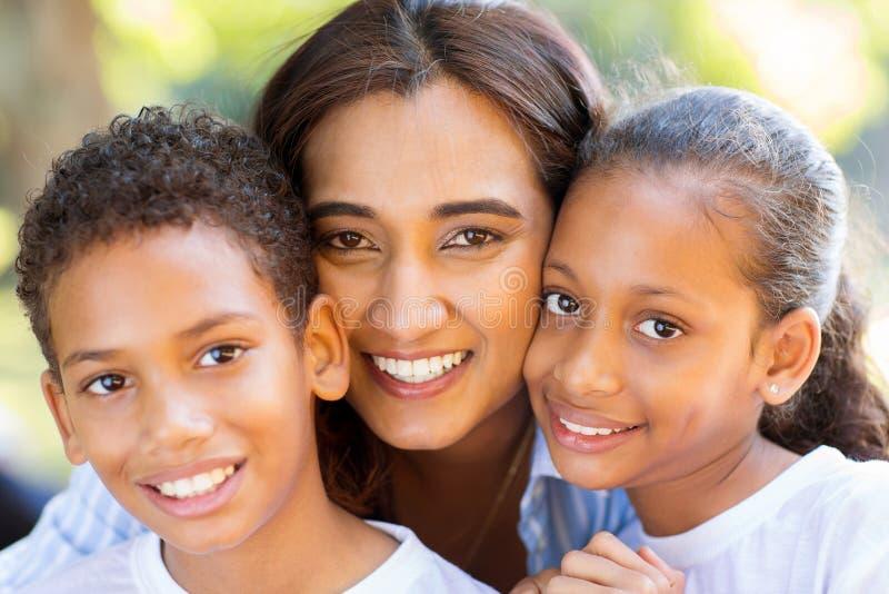 Indian mother kids stock photos