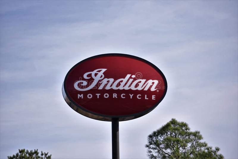 Indian Motorcycle Corporation. Indian is an American brand of motorcycles originally produced from 1901 to 1953 in Springfield, Massachusetts, United States royalty free stock image