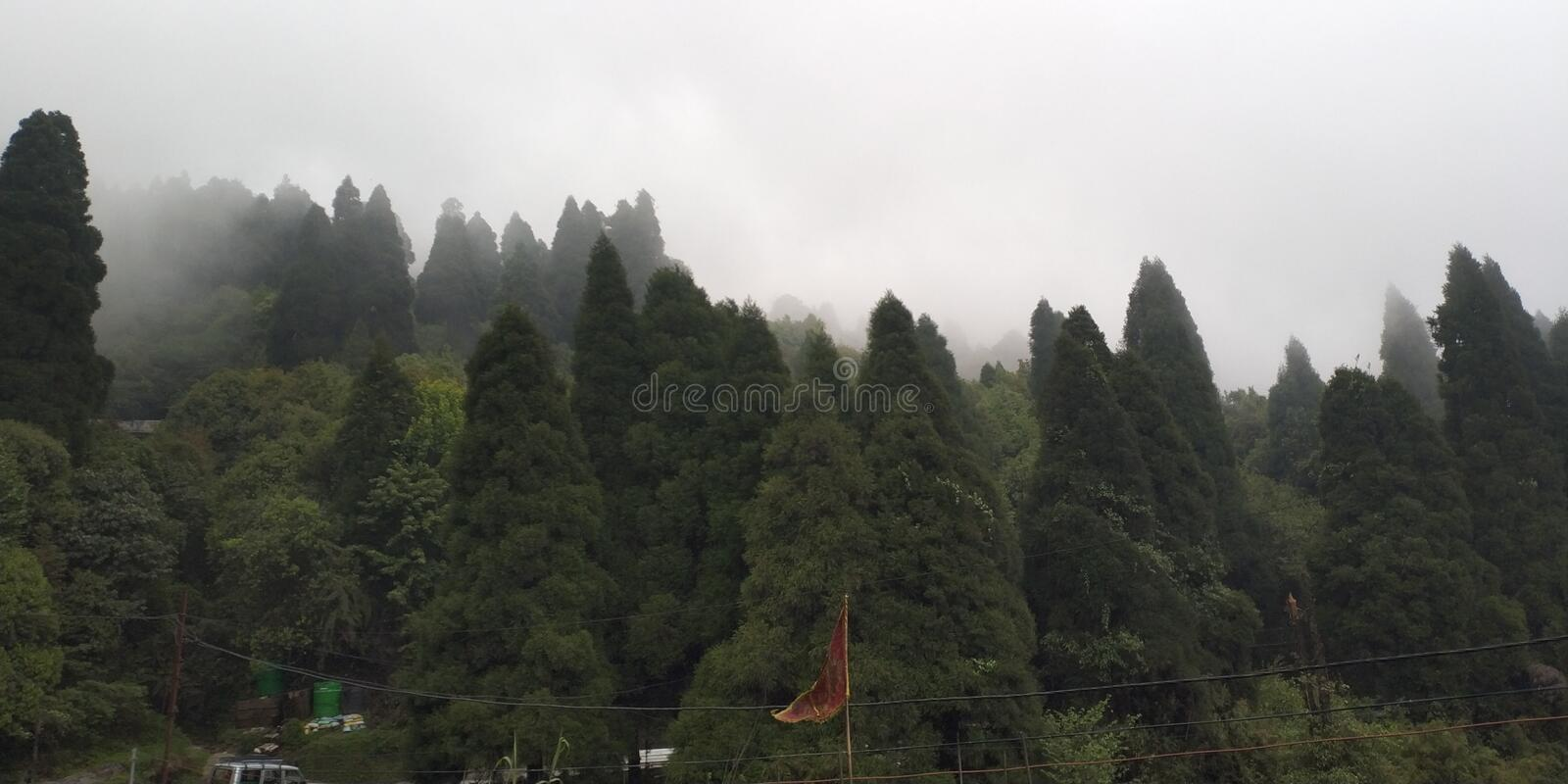 NORTH EAST INDIAN MOUNTAIN VIEW royalty free stock image