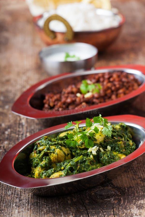 Indian murgh palak stock photo