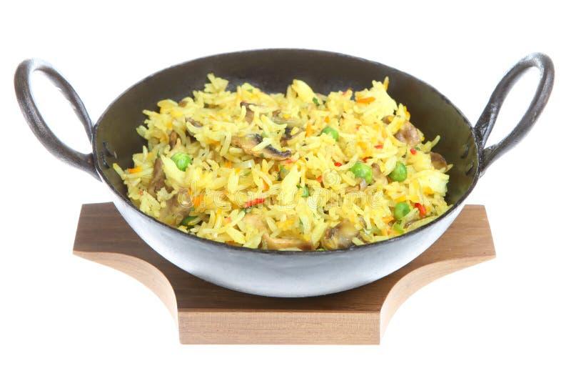 Indian Mushroom Fried Rice royalty free stock photography