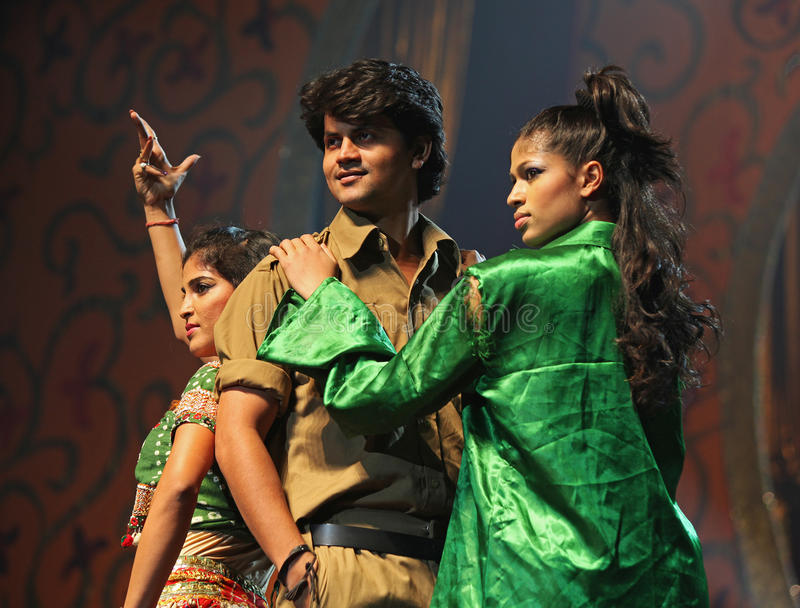 Indian Music and Dance Show stock photography