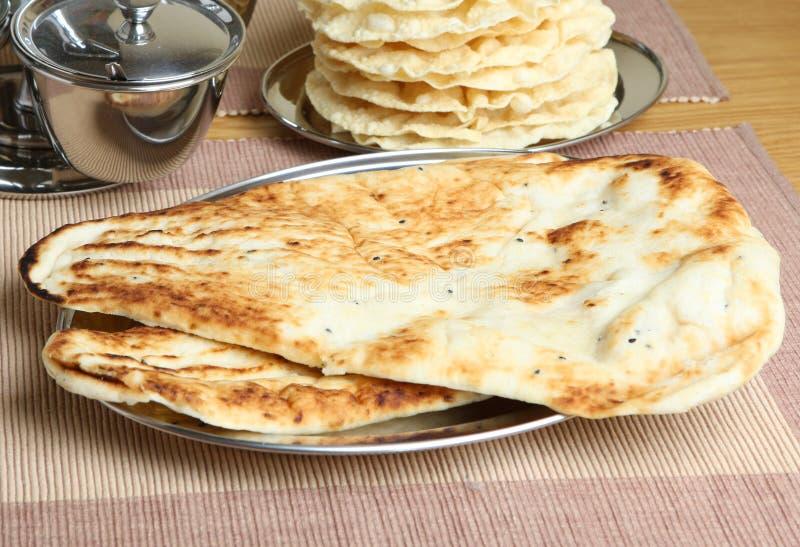 Indian Naan Bread Royalty Free Stock Photos