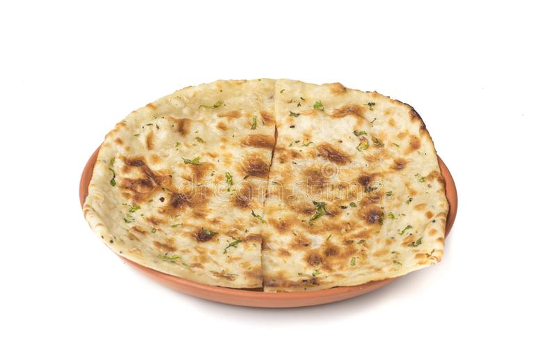Indian Naan. Homemade Indian Naan Flat bread made with fine Whole Wheat stock photography