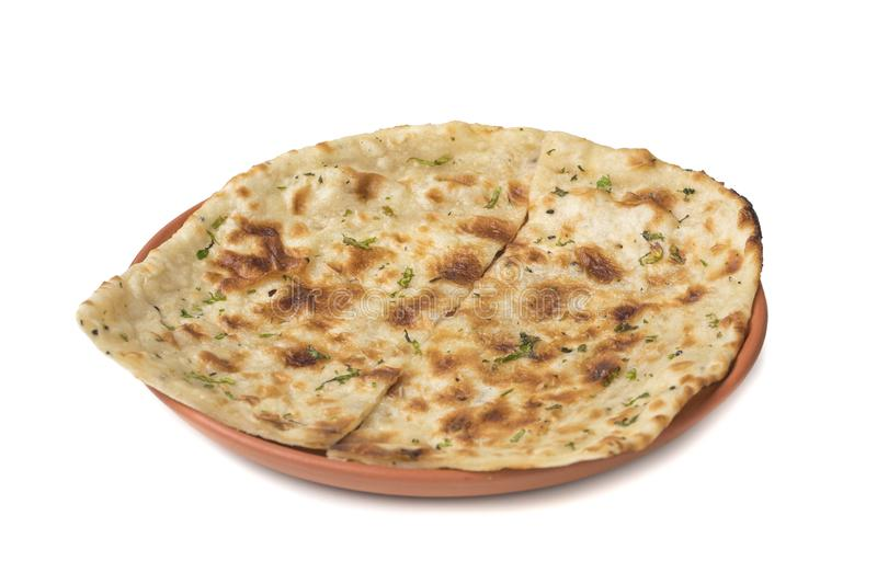 Indian Naan. Homemade Indian Naan Flat bread made with fine Whole Wheat royalty free stock photography