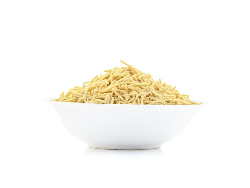 Indian Namkeen Food Aloo Sev stock photos