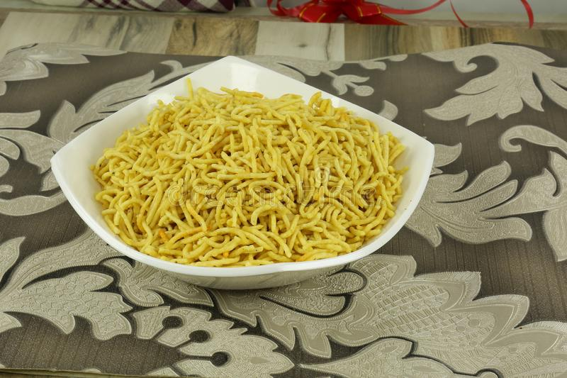INDIAN NAMKEEN RATLAMI NAMKEEN SEV royalty free stock image