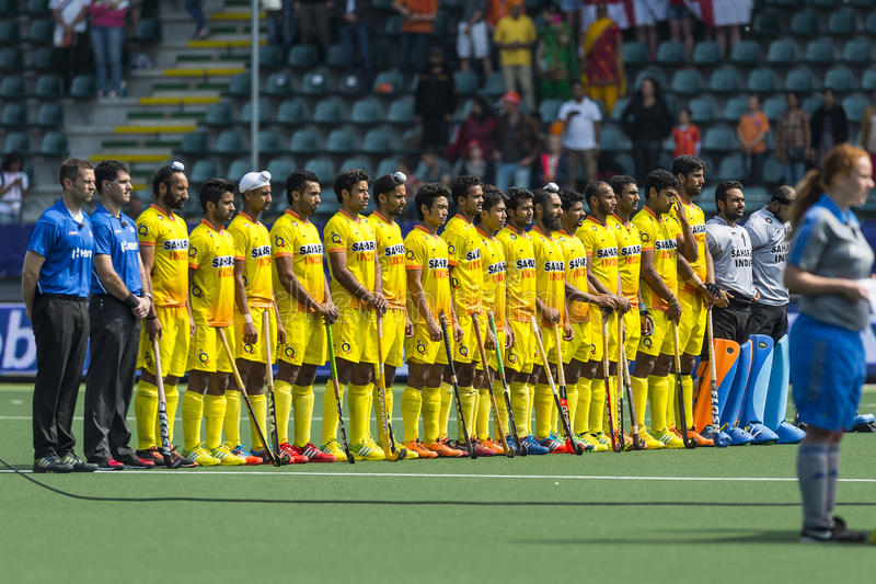 Indian national field Hockey team royalty free stock images