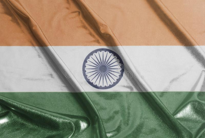 Indian rippled waving flag royalty free stock photos