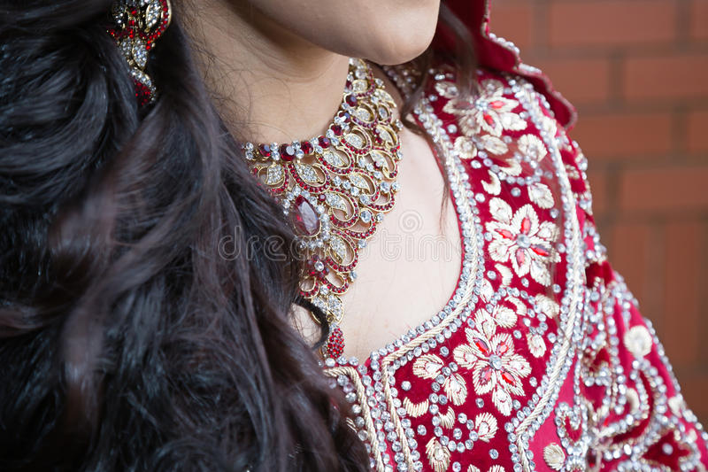 Indian necklace stock image