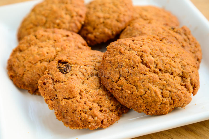 Oats Cookie. Indian oats cookies,made from flour,oats and raisins stock image