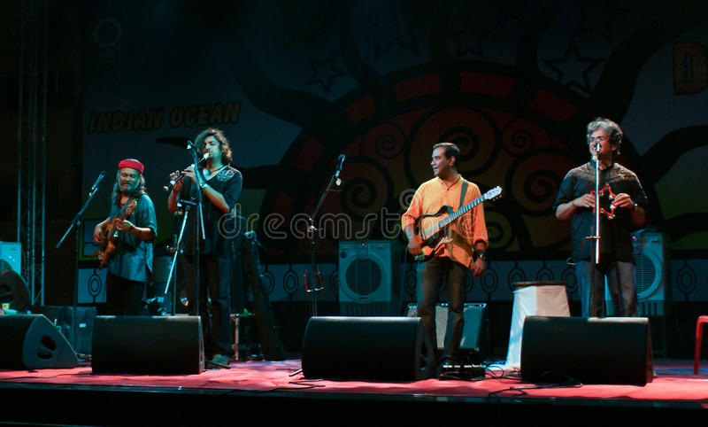Indian Ocean band perfomers live in concert royalty free stock images