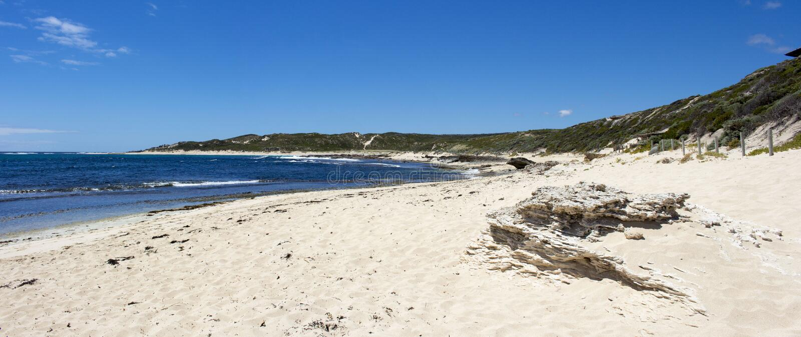 Indian Ocean at Margaret River Western Australia in early summer stock photo