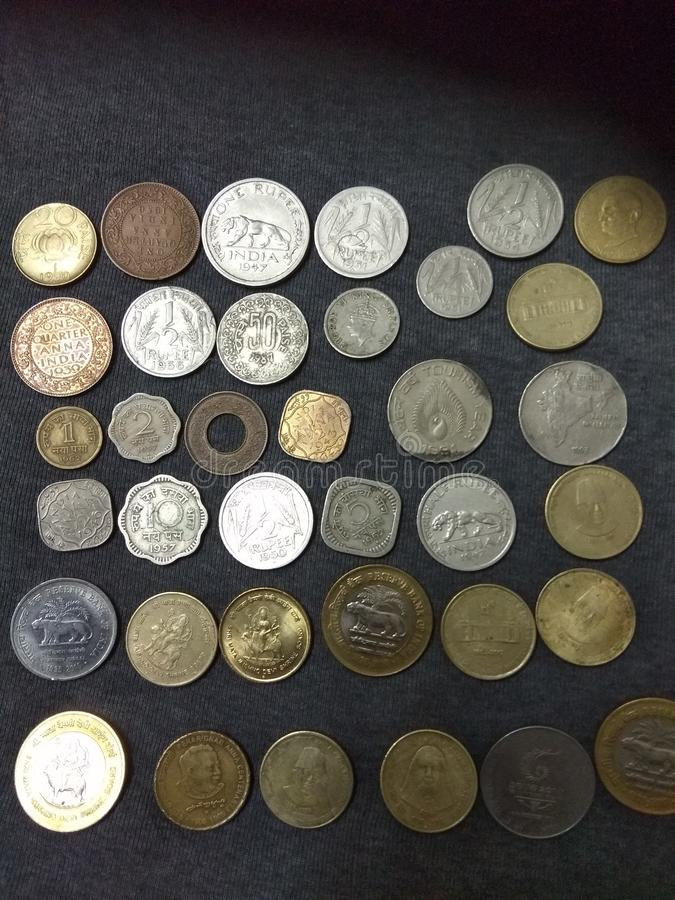 Old Indian Coins Stock Image Image Of Collection Funding