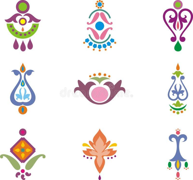 Download Indian ornamental designs stock illustration. Illustration of vector - 17561647