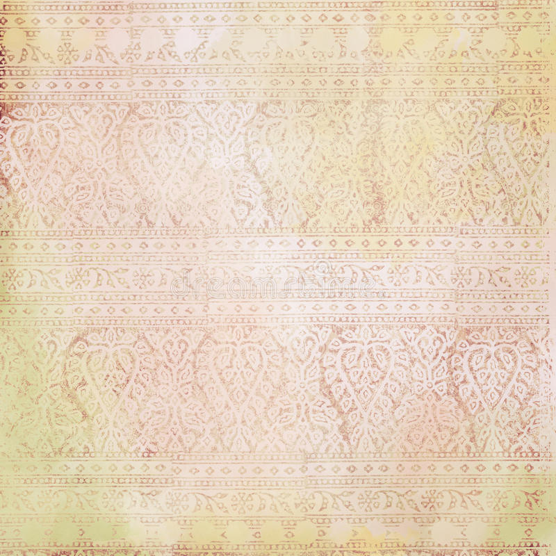 Indian paisley background. An Indian floral paisley watercolor background stock photo