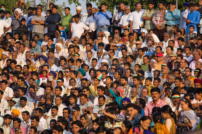 Indian - Pakistani border royalty free stock photos