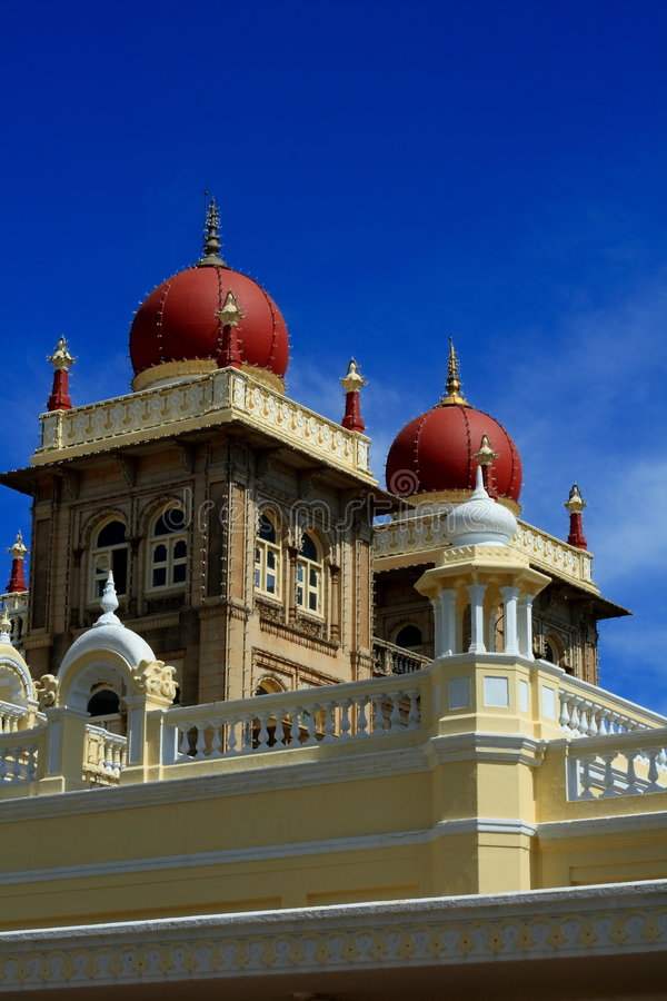 Indian palace. A majestic royal Indian palace with blue sky royalty free stock image