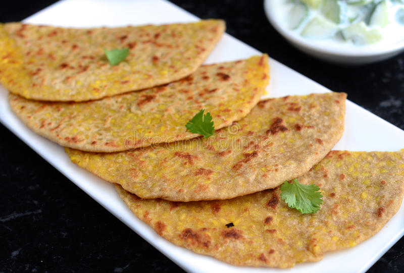 Indian Parantha. Indian flat bread or Parantha,paratha stock photo