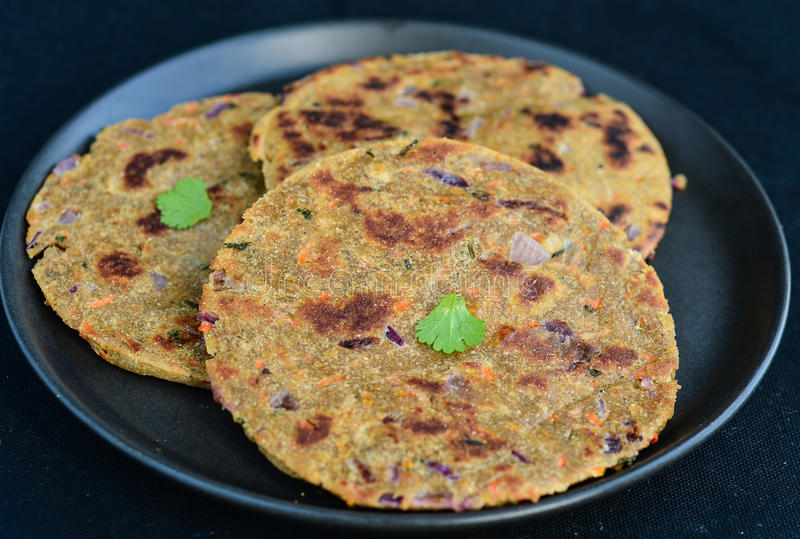Indian Parantha (stuffed indian bread). Brekkie-Indian Parantha (stuffed Indian bread royalty free stock images