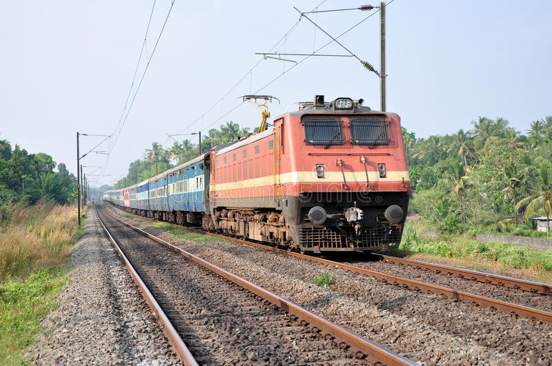 Indian Passenger Train Royalty Free Stock Images