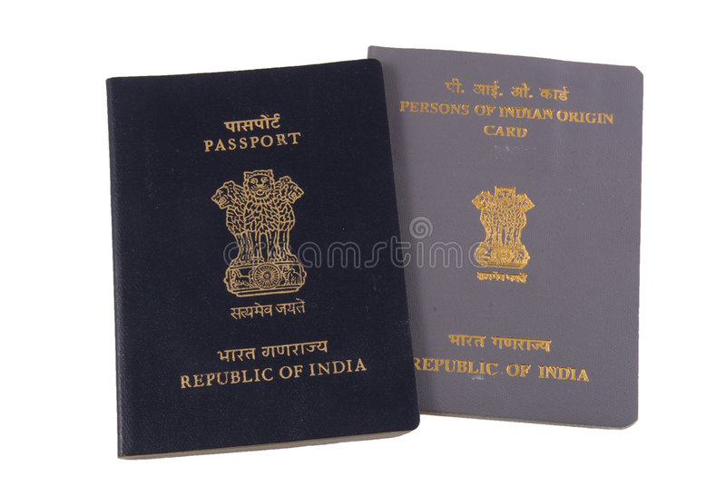 Download Indian Passport And PIO Card Stock Image - Image: 7391747