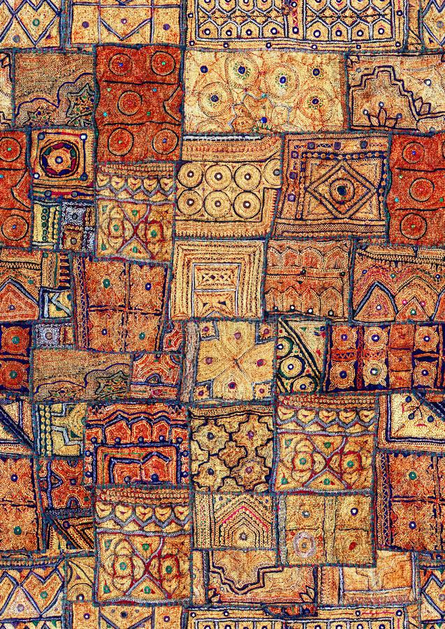 Indian patchwork carpet in Asia. Seamless design. Repeat. You can use the design at textile fabric, background, clothing and other more stock image