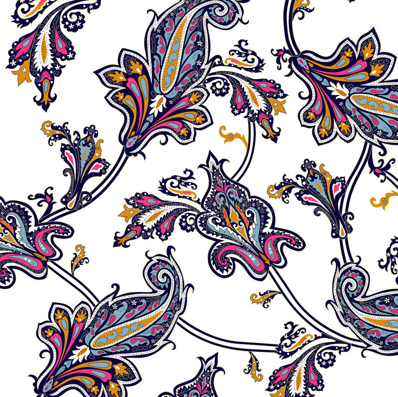 Indian pattern. Complicated Indian pattern on a grey background