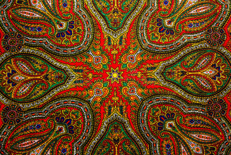 Indian pattern fabric stock images