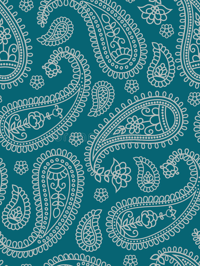 Indian pattern with paisley. royalty free stock photo