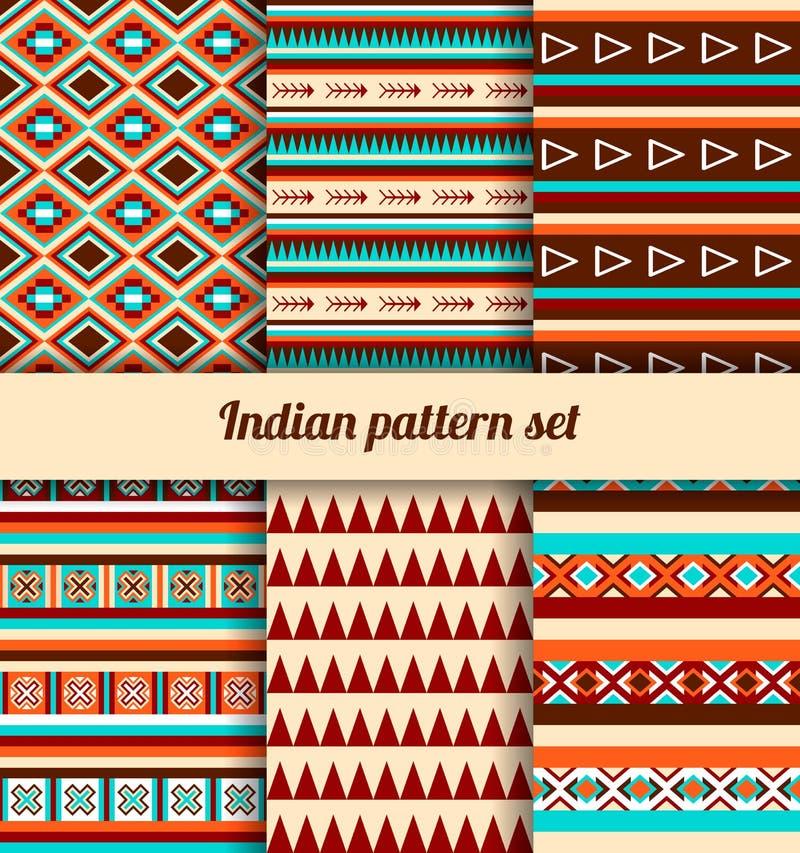 Indian pattern set. stock illustration