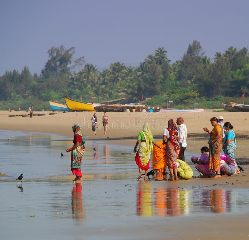 Download Indian People On The Beach At Gokarna Editorial Stock Image - Image: 27689719