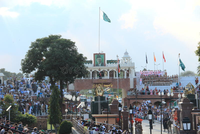 Indo-Pak Border-2. royalty free stock photos